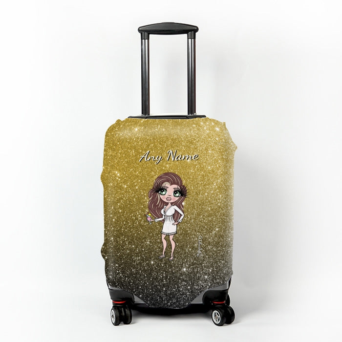 ClaireaBella Ombre Glitter Effect Suitcase Cover - Image 5