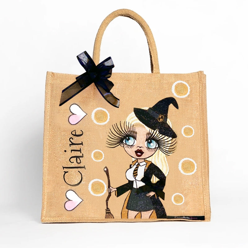 ClaireaBella Large Witches Jute Bag - Image 1