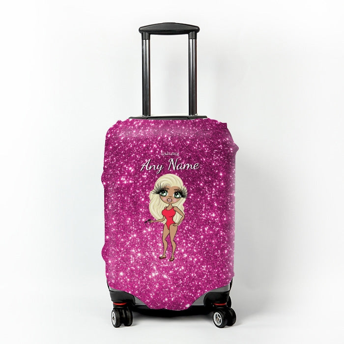 ClaireaBella Glitter Effect Suitcase Cover - Image 1
