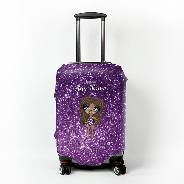 ClaireaBella Girls Glitter Effect Suitcase Cover - Image 7