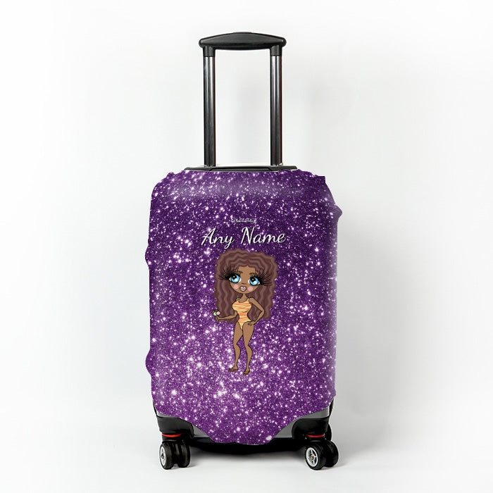 ClaireaBella Glitter Effect Suitcase Cover - Image 6