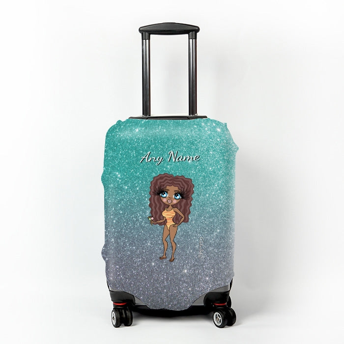 ClaireaBella Ombre Glitter Effect Suitcase Cover - Image 6