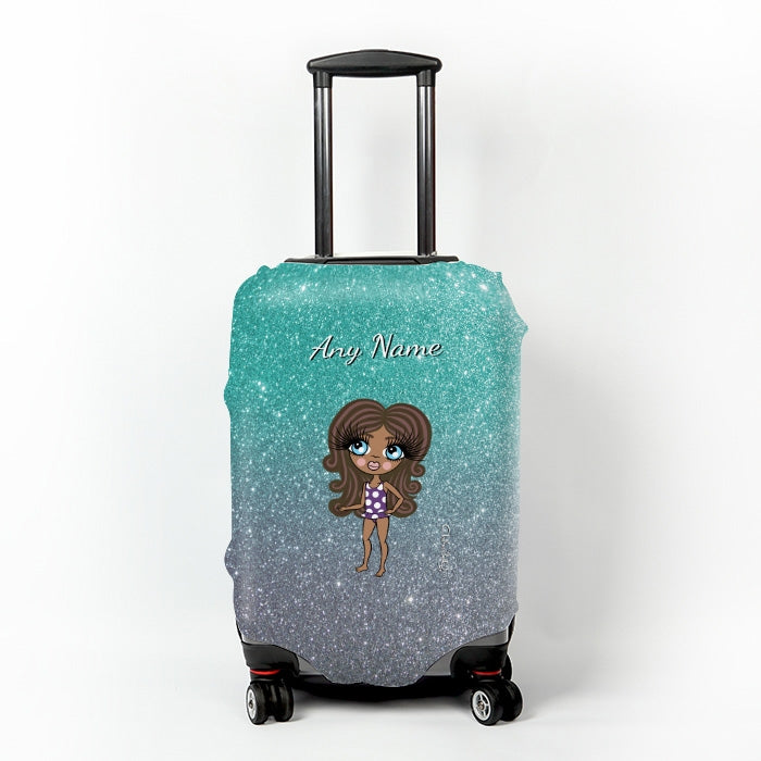ClaireaBella Girls Ombre Glitter Effect Suitcase Cover - Image 6