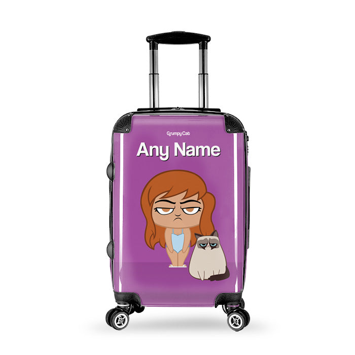 Grumpy Cat Purple Suitcase
