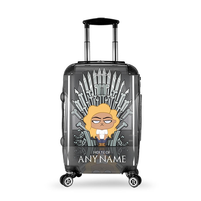 Grumpy Cat Throne Of Bones Suitcase - Image 1