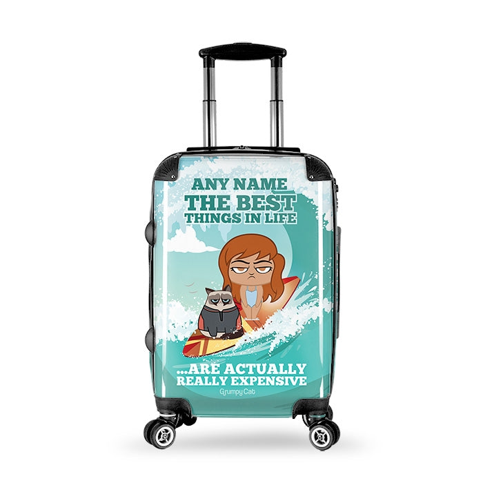 Grumpy Cat Best Things Suitcase - Image 1