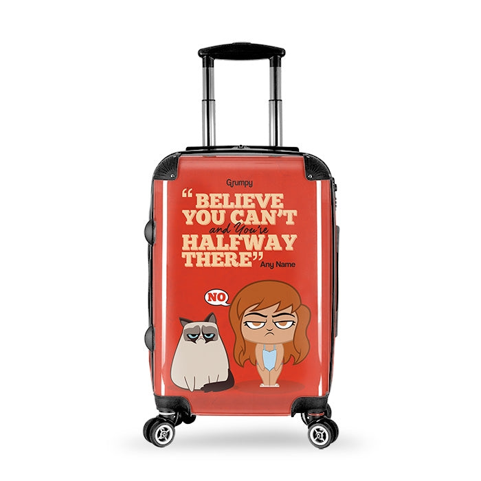Grumpy Cat Believe Suitcase - Image 7