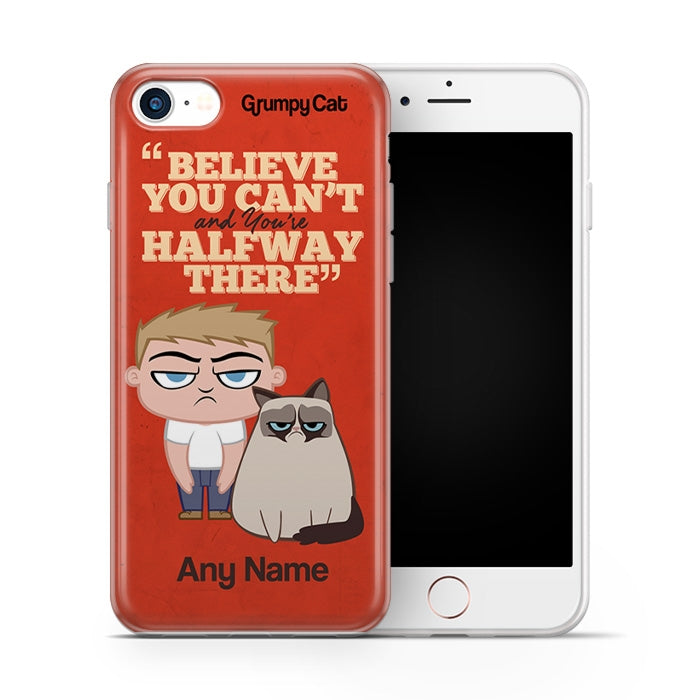 Grumpy Cat Believe Phone Case - Image 1