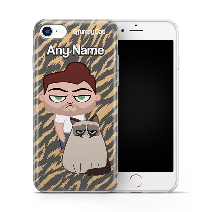Grumpy Cat Animal Print Phone Case - Image 1