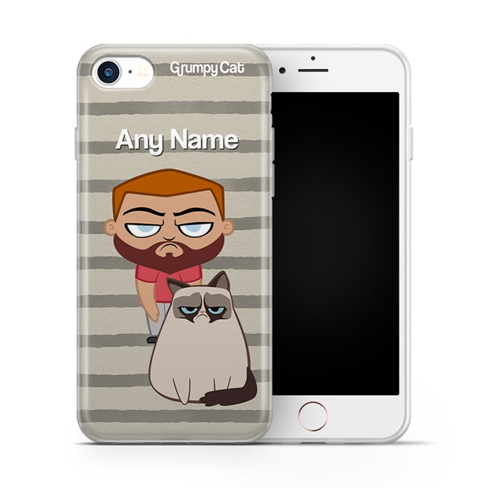 Grumpy Cat Stripe Phone Case - Image 2