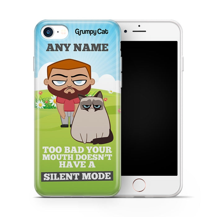 Grumpy Cat Silent Mode Phone Case - Image 2