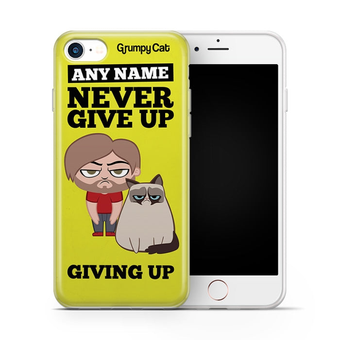 Grumpy Cat Give Up Phone Case - Image 3