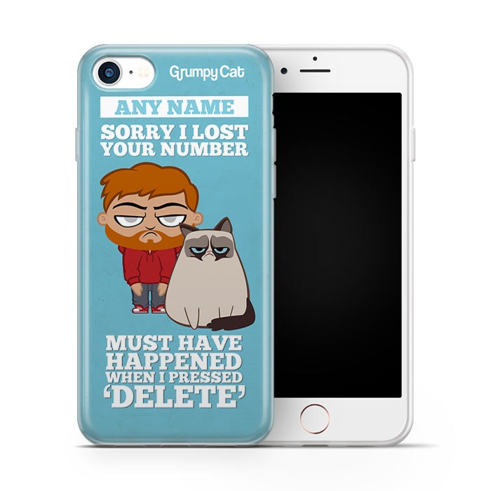 Grumpy Cat Lost Number Phone Case - Image 1