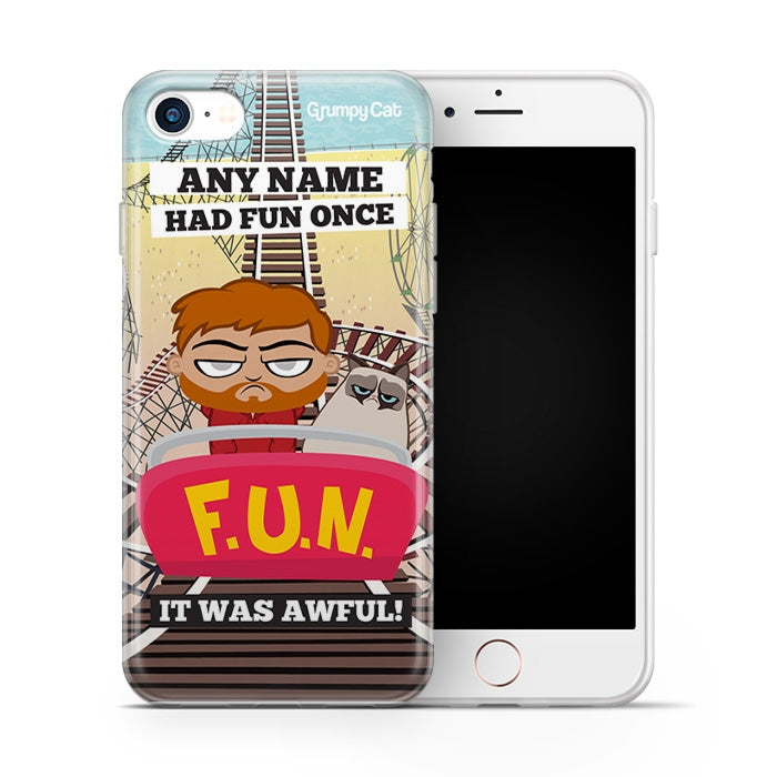 Grumpy Cat Had Fun Phone Case - Image 2