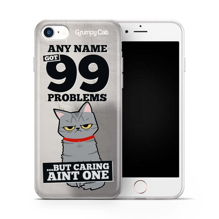 Grumpy Cat 99 Problems Phone Case - Image 3