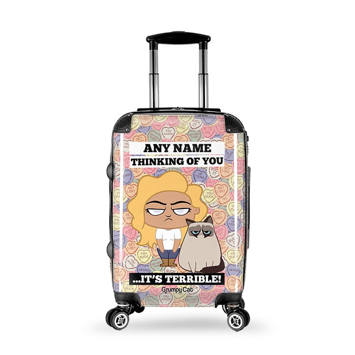 Grumpy Cat Lovehearts Suitcase - Image 1
