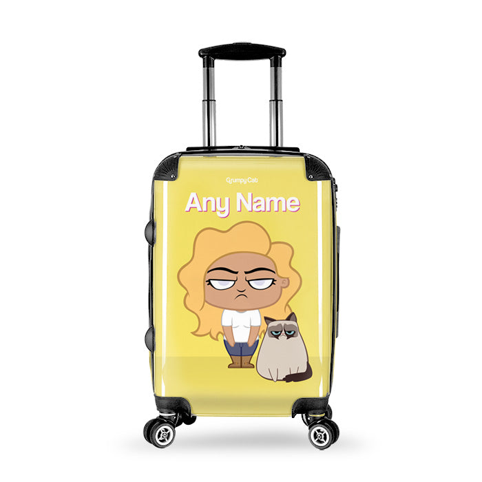 Grumpy Cat Yellow Suitcase