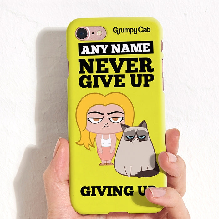Grumpy Cat Give Up Phone Case - Image 4