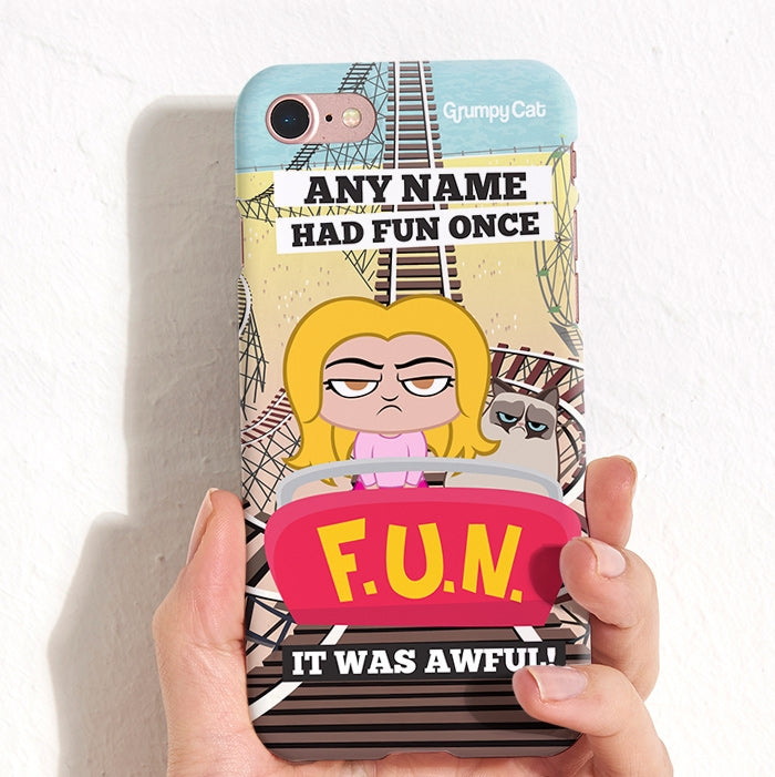 Grumpy Cat Had Fun Phone Case - Image 1