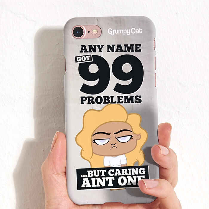 Grumpy Cat 99 Problems Phone Case - Image 1