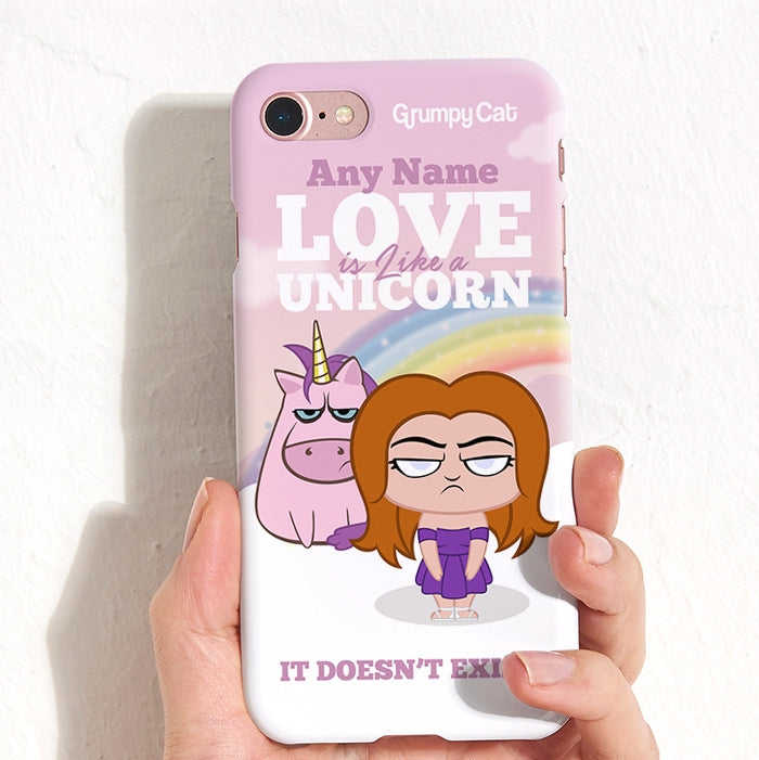 Grumpy Cat Unicorn Phone Case - Image 2
