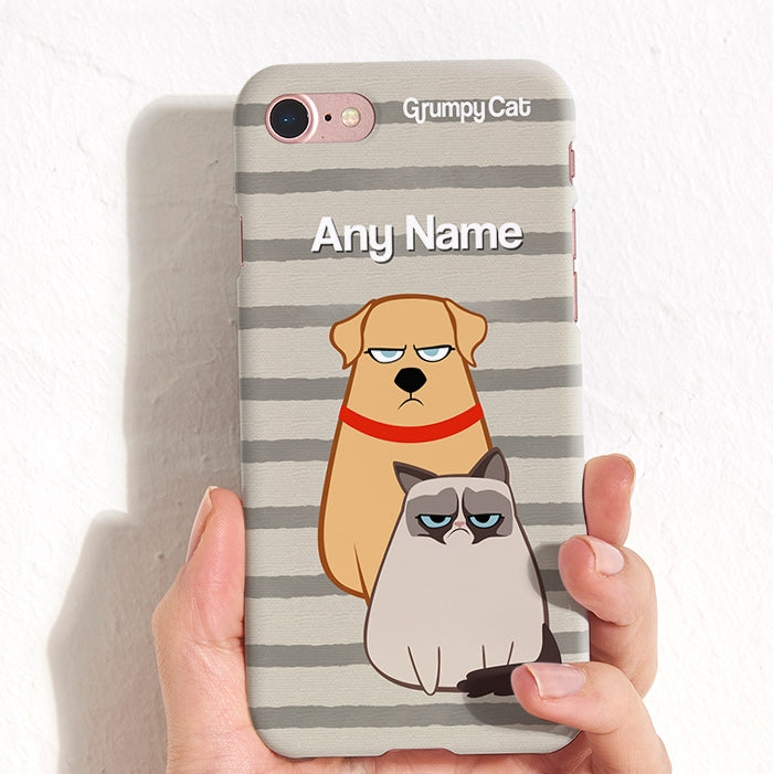 Grumpy Cat Stripe Phone Case - Image 4