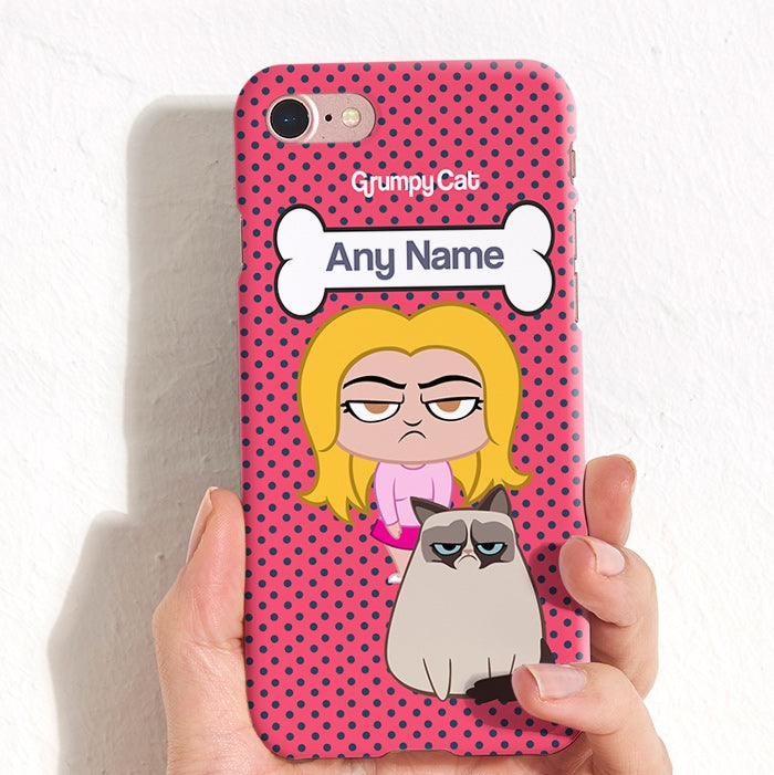 Grumpy Cat Polka Dot Phone Case - Image 4