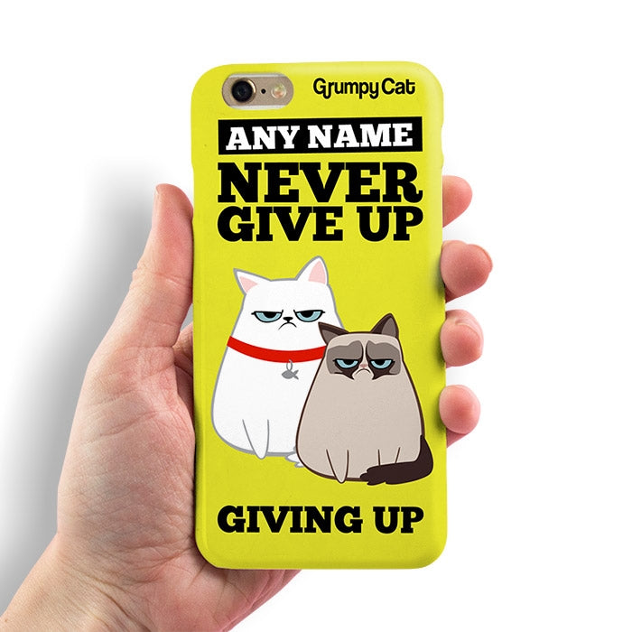 Grumpy Cat Give Up Phone Case - Image 1