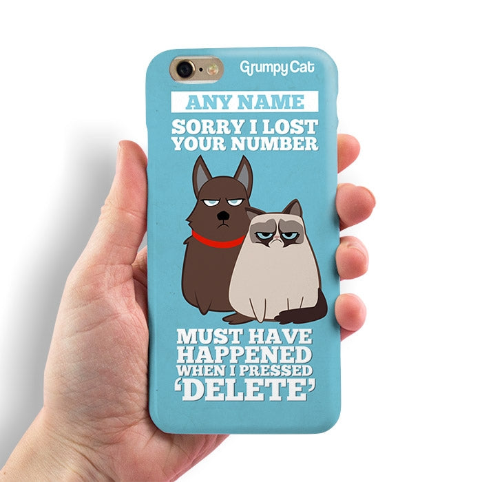 Grumpy Cat Lost Number Phone Case - Image 2