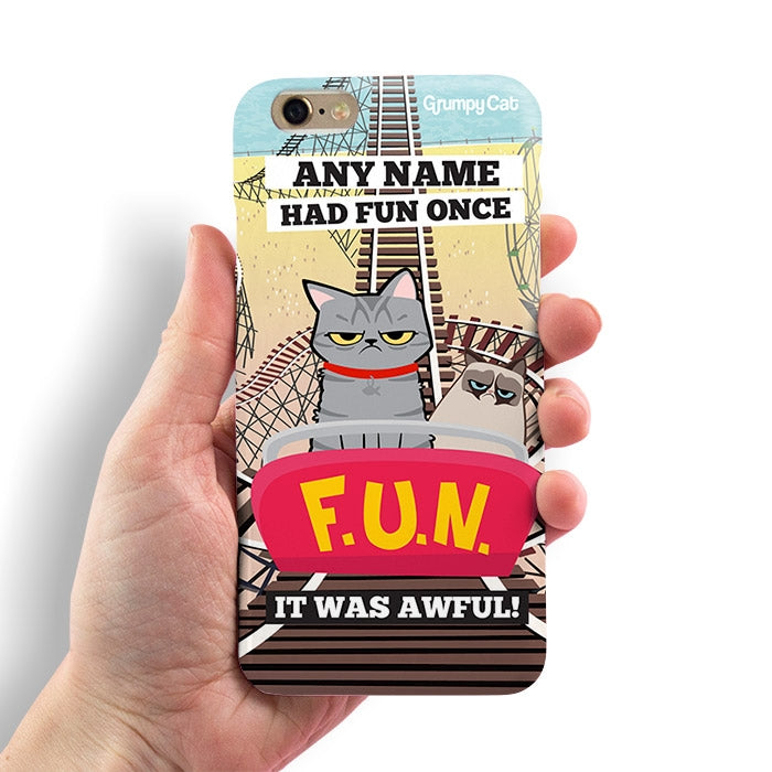 Grumpy Cat Had Fun Phone Case - Image 3