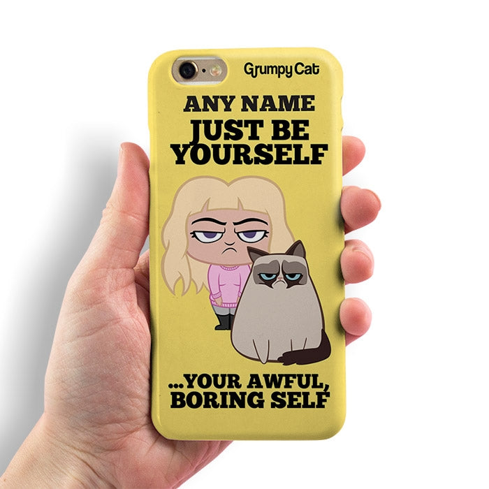 Grumpy Cat Be Yourself Phone Case - Image 3