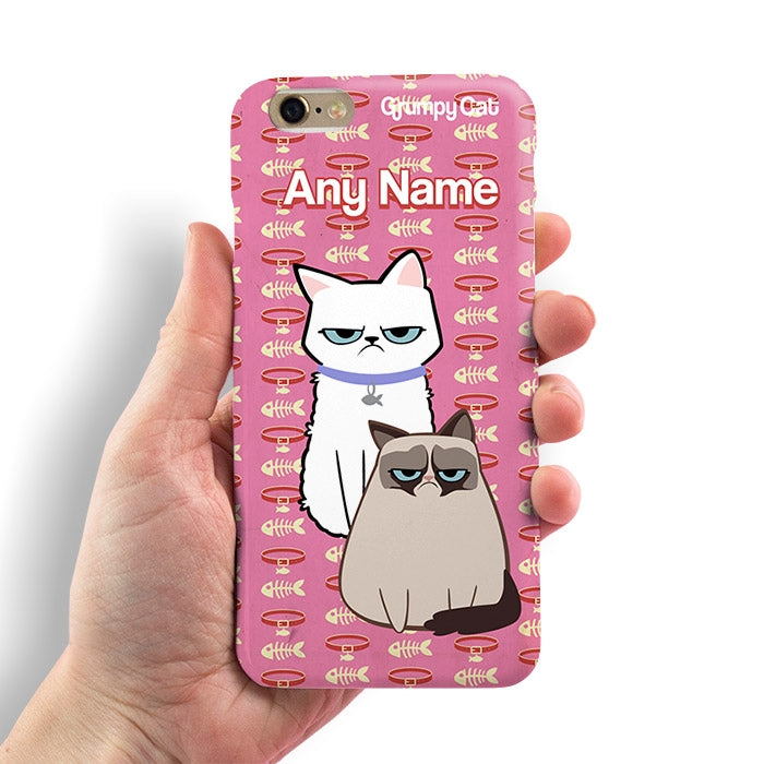 Grumpy Cat Fish Collar Phone Case - Image 1
