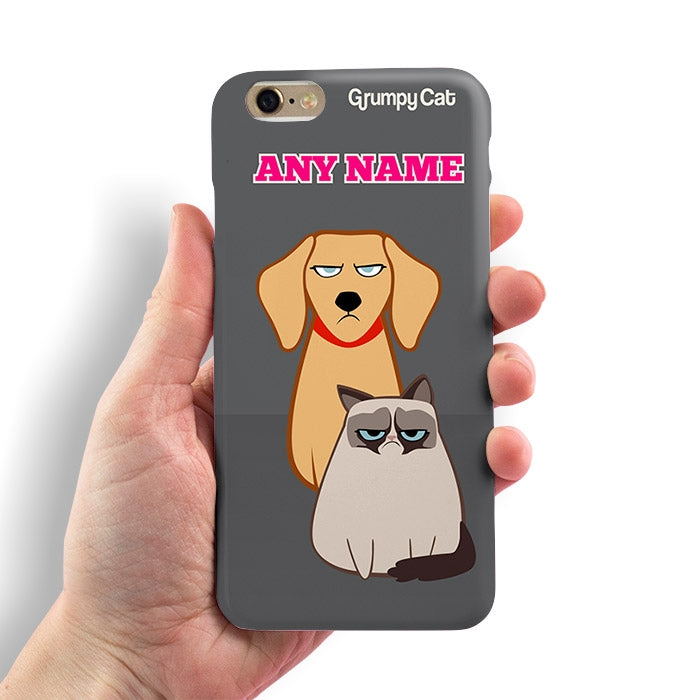 Grumpy Cat Charcoal Phone Case - Image 2