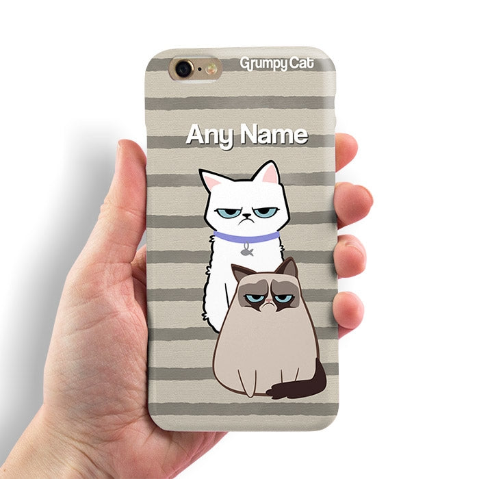 Grumpy Cat Stripe Phone Case - Image 3