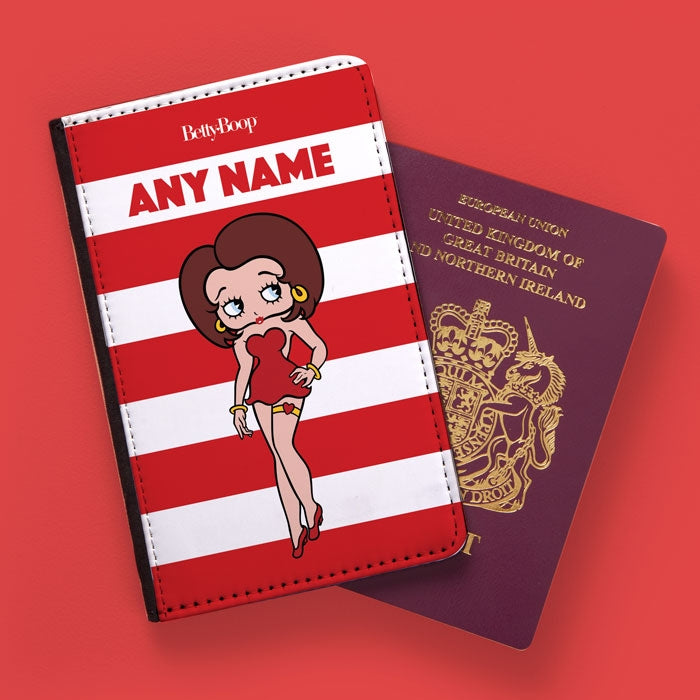 Betty Boop Candy Stripe Passport Cover - Image 1