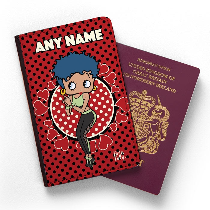 Betty Boop Polka Hearts Passport Cover - Image 1