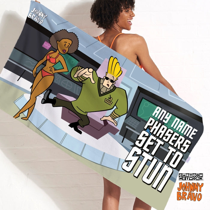 Johnny Bravo Ladies Set To Stun Beach Towel - Image 1