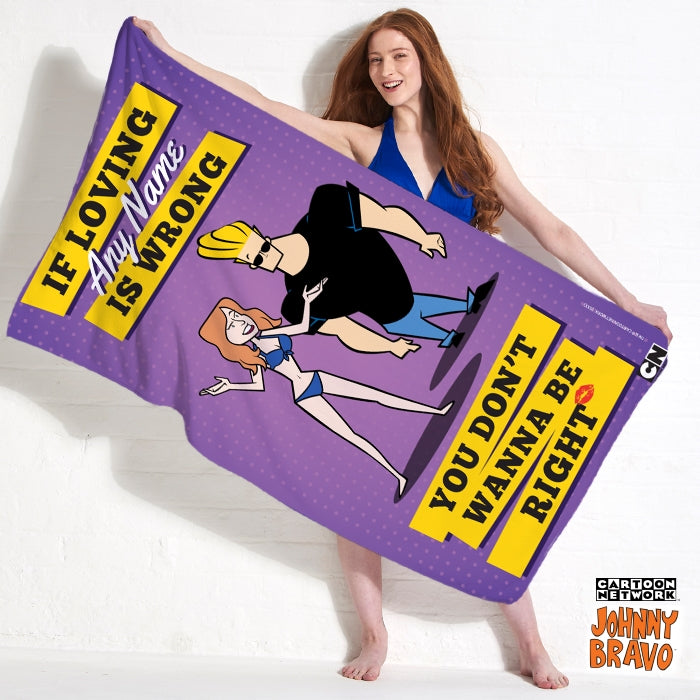 Johnny Bravo Ladies Loving Me Beach Towel - Image 1