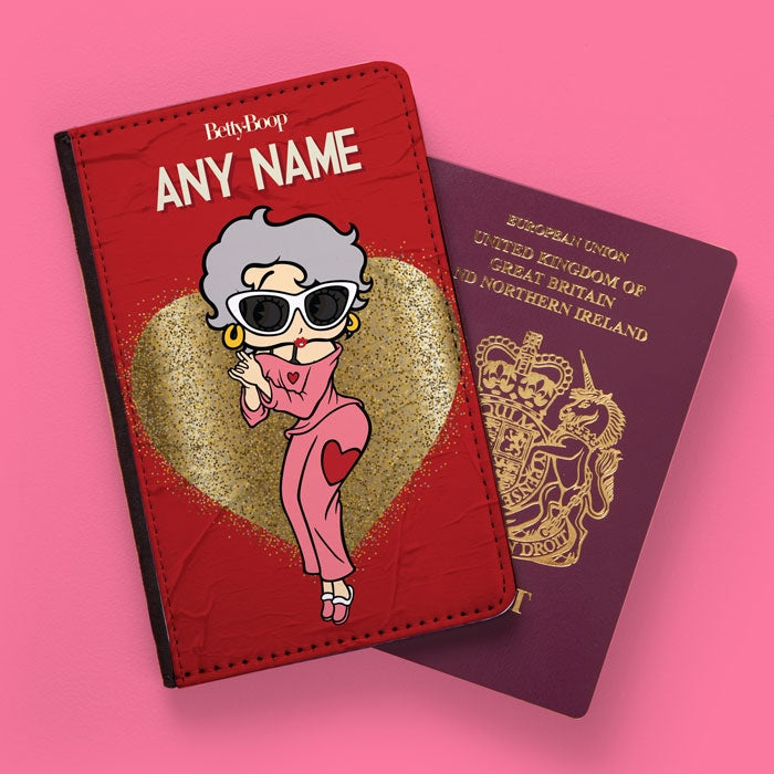 Betty Boop Glitzy Heart Passport Cover - Image 1