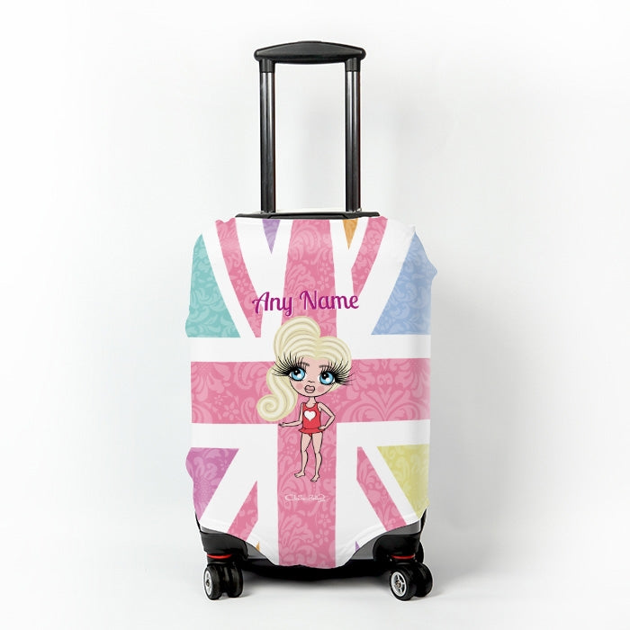 ClaireaBella Girls Union Jack Suitcase Cover - Image 1