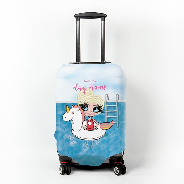 ClaireaBella Girls Unicorn Suitcase Cover - Image 1