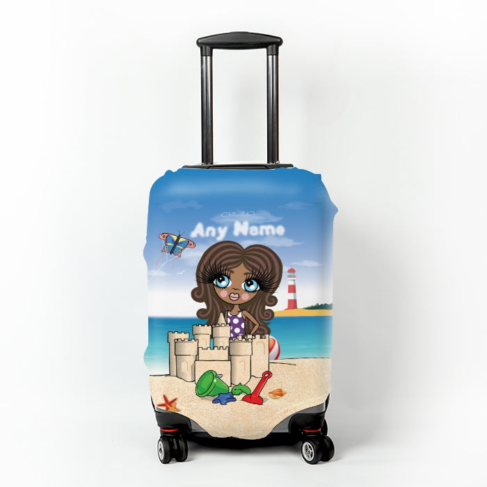 ClaireaBella Girls Suncastle Fun Suitcase Cover - Image 1
