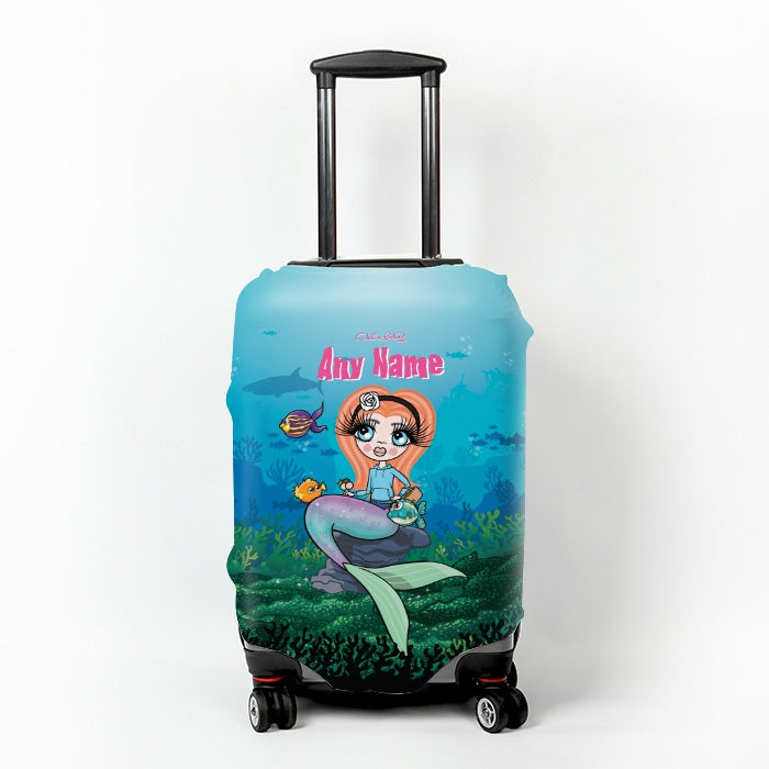 ClaireaBella Girls Mermaid Suitcase Cover - Image 1
