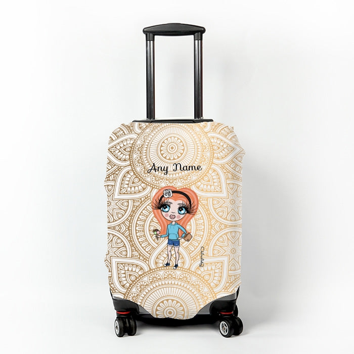 ClaireaBella Girls Golden Lace Suitcase Cover - Image 1
