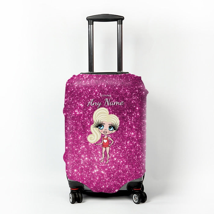 ClaireaBella Girls Glitter Effect Suitcase Cover - Image 1