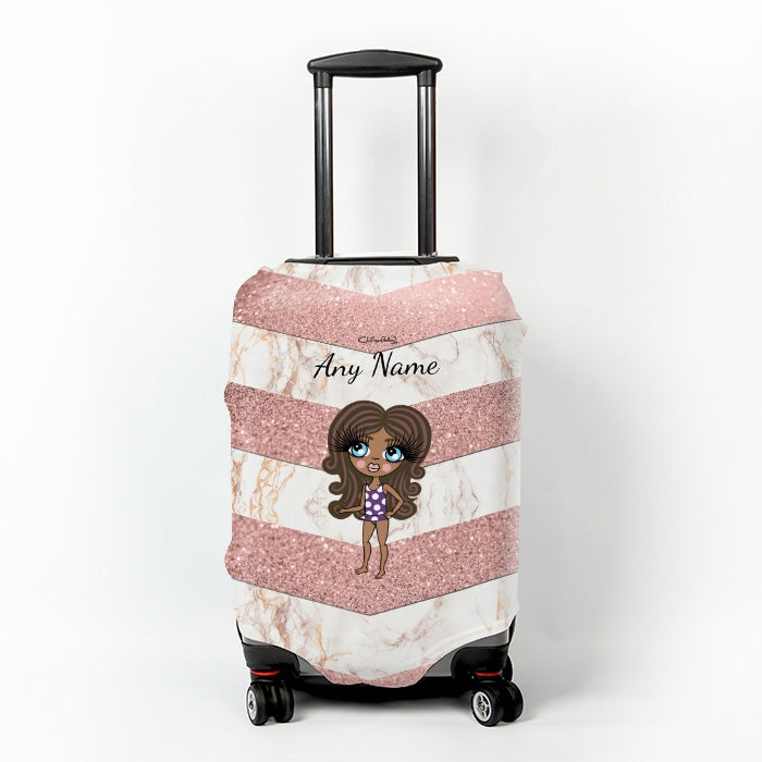ClaireaBella Girls Chevron Geo Suitcase Cover - Image 1