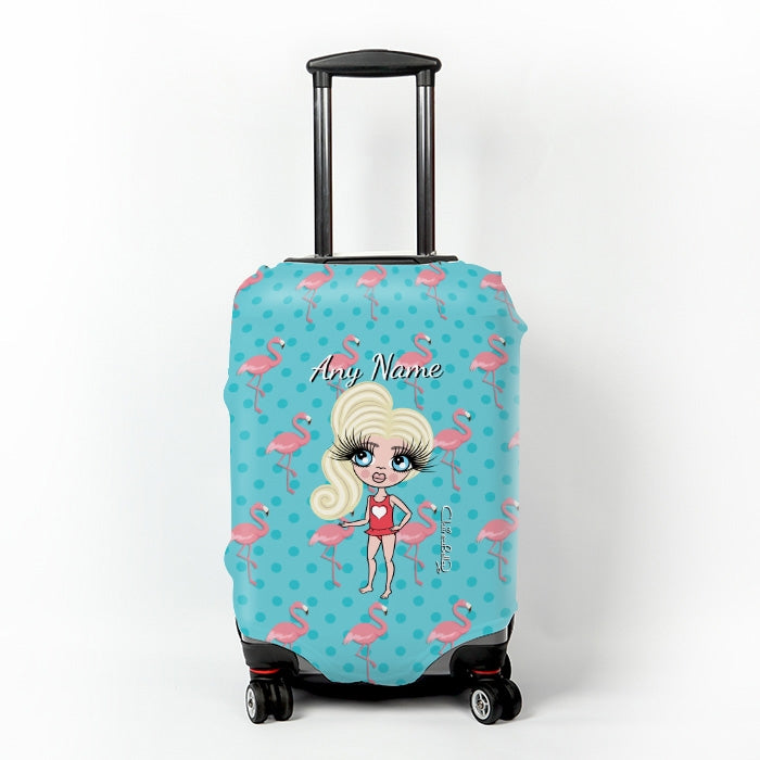 ClaireaBella Girls Flamingo Print Suitcase Cover - Image 1