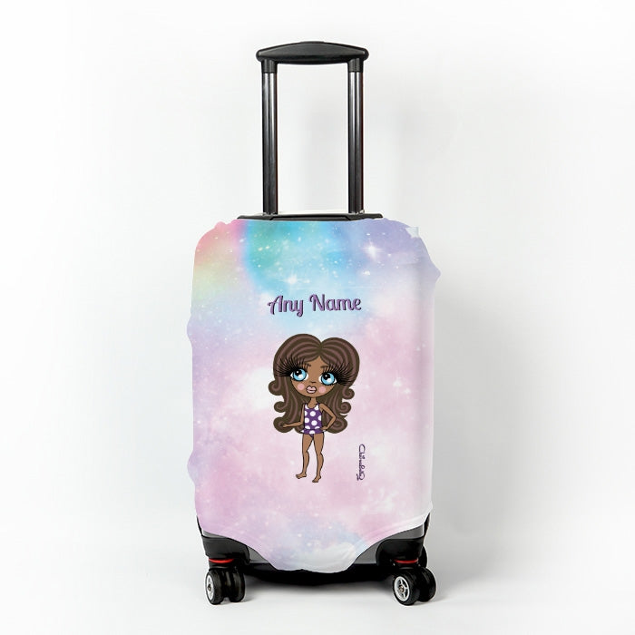 ClaireaBella Girls Unicorn Colours Suitcase Cover - Image 1