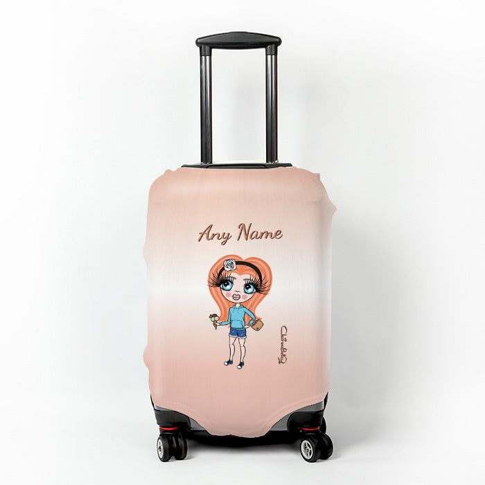 ClaireaBella Girls Blush Suitcase Cover - Image 1