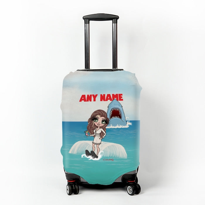 ClaireaBella Retro Shark Attack Suitcase Cover - Image 1